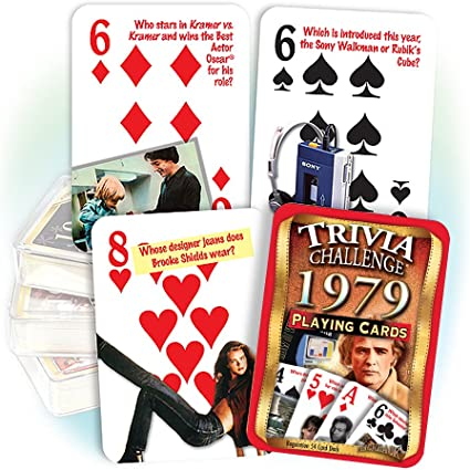 Flickback 1979 Trivia Playing Cards 40th Birthday or 40th Anniversary Gift