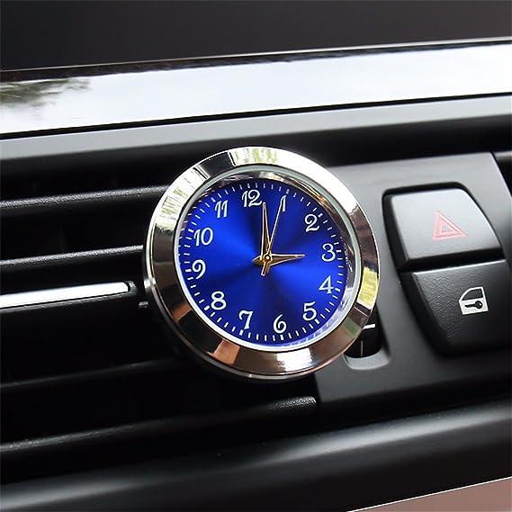 JISHUQICHEFUWU Coche de Metal Reloj/Coche/vehículo Relojes de Cuarzo/Calendario/Reloj electrónico del vehículo/vehículo Modificado Tabla electrónica/Auto ...