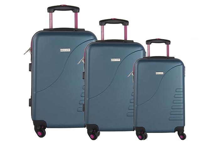 3 Maletas rígidas PIERRE CARDIN verde 4 ruedas cabina para viajes VS1: Amazon.es: Ropa y accesorios