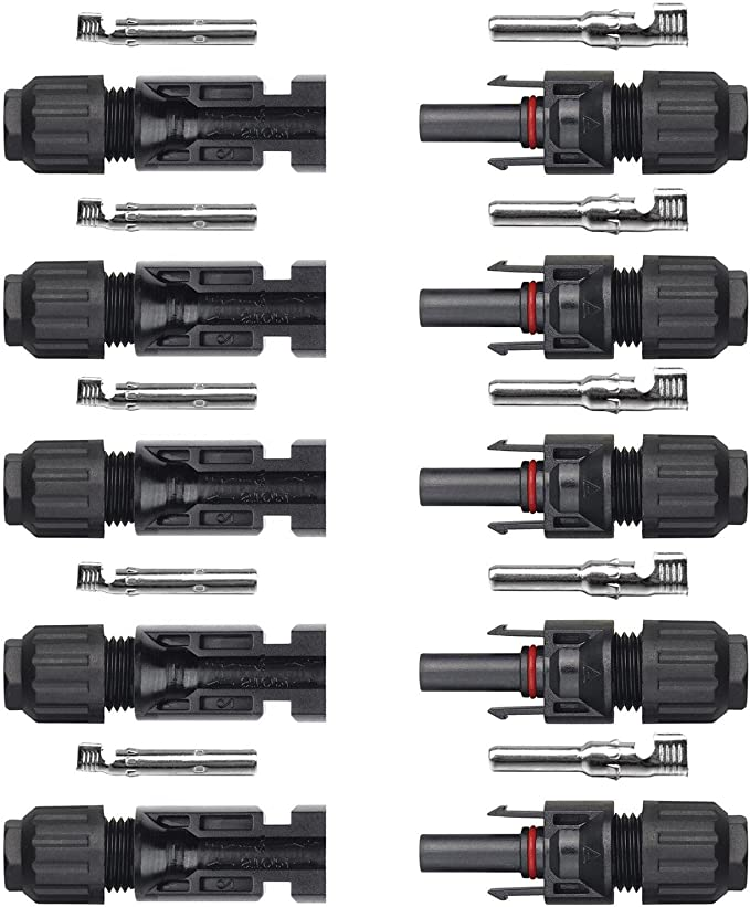 Cable Length Black ShineBear 1 Pair Y Type MC4 Solar Panel Cable Connectors Male Female M//F Wire Branch-SCLL