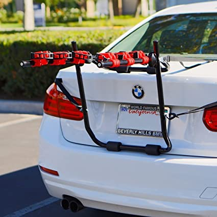New Allen Sports Deluxe 2 Bike Trunk Mount Rack Car SUV Bicycle Carrier Holder