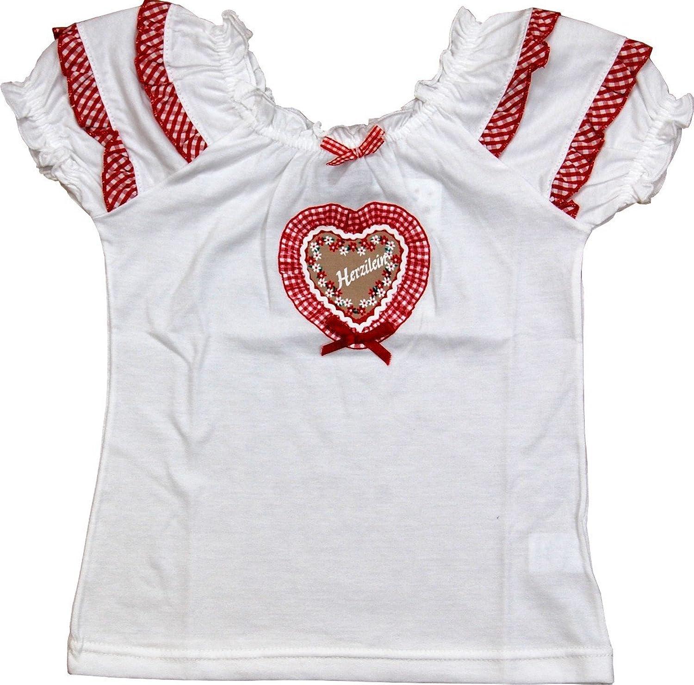 Mädchen Shirt Herzilein mit Raglan Ärmeln