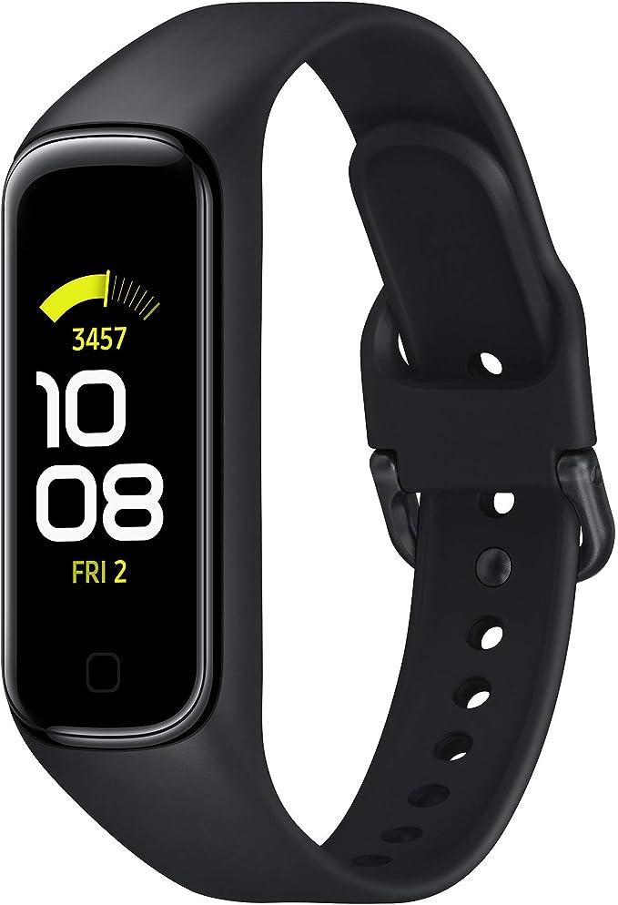 SAMSUNG Galaxy Fit2 Negro con acelerómetro, giroscopio, Monitor de frecuencia cardíaca, Monitor de Entrenamiento, Pantalla AMOLED de 1,1