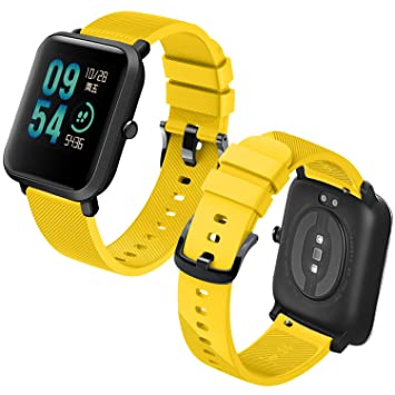 Th-some Correa para Amazfit Bip Impermeable Universal - Reemplazo de Pulsera Ajustable para Xiaomi Huami Amazfit Bip bit Lite Youth Watch, Amarillo ...