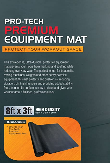 Amazon.com : SPRI Pro-Tech Treadmill Equipment Mat, 96 x 36-Inch x 3mm : Sports & Outdoors