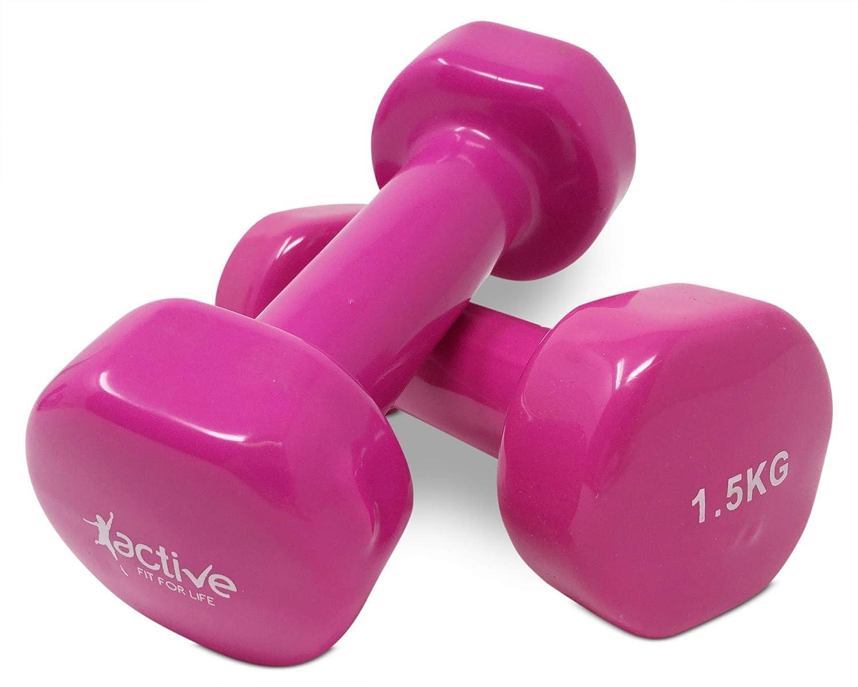 Pack de 2/rosa 1,5/kg mancuernas perfecto para fortalecimiento