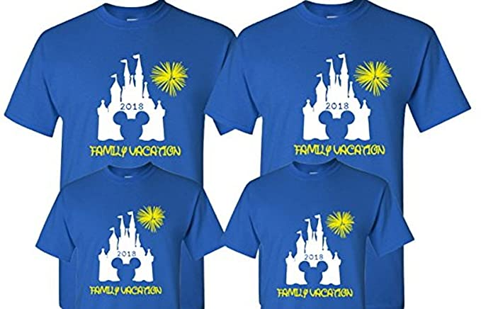 JasmineTS 2018 Disney Family Vacation T Shirts Matching Cute Mickey Unisex