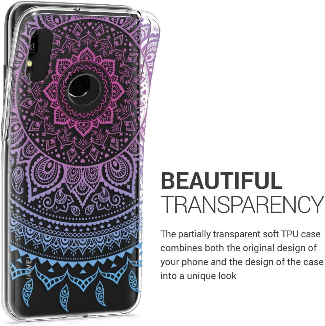2019 kwmobile Coque Huawei Y6 - Housse de t/él/éphone en Silicone Multicolore-Transparent - Coque pour Huawei Y6 2019
