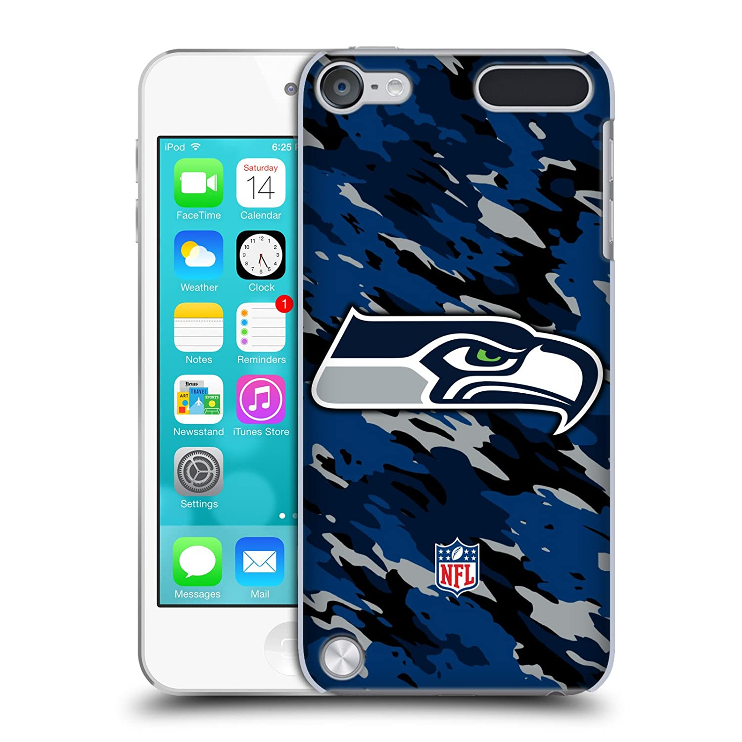 Official NFL Camou Seattle Seahawks Logo Hard Back Case for iPod Touch 5th Gen / 6th Gen HC-TOUCH5G-NFLLOSSE-CAM