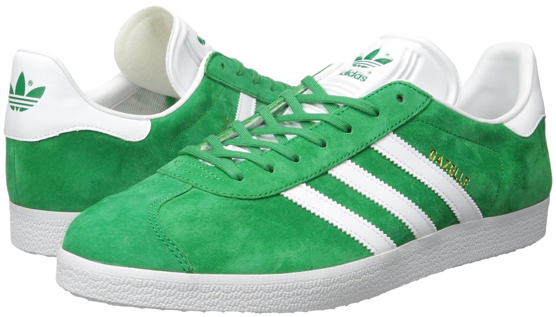 low priced 82027 c1289 adidas Originals Mens Gazelle Lace-up Sneaker, GreenWhiteGold MET, 4 M  US Amazon.co.uk Shoes  Bags