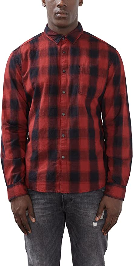 edc by ESPRIT 116CC2F008, Camisa Hombre, Rojo (Garnet Red), X-Large: Amazon.es: Ropa y accesorios