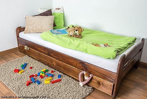Kinderbett / Jugendbett Kiefer Vollholz Massiv A11, Inkl. Lattenrost  120 X  200 Cm