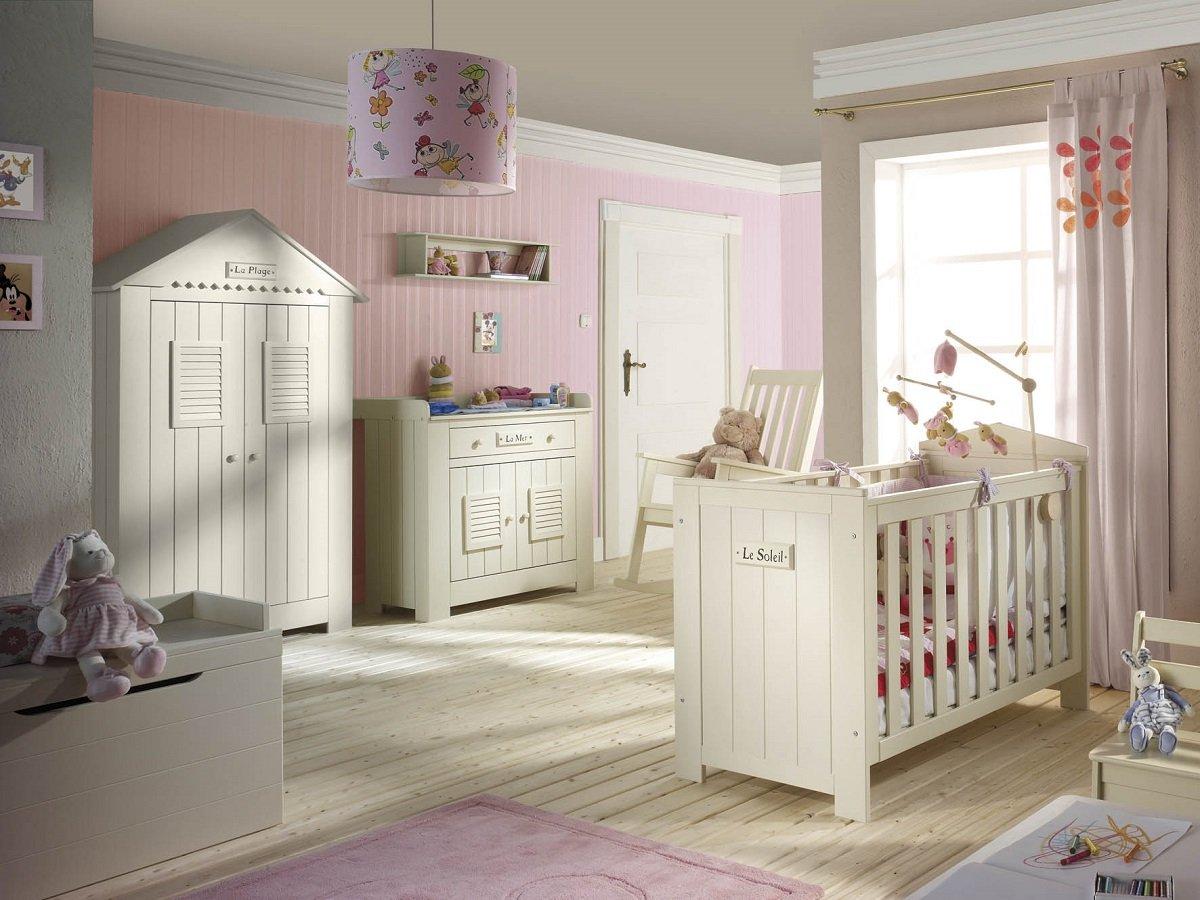 Babyzimmer Kinderzimmer SAINT-TROPEZ weiss, Holz massiv ...
