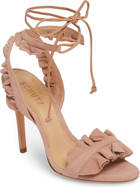 Schutz Nikita Black Leather Thigh High Heel Gladiator Studded Dress Sandals