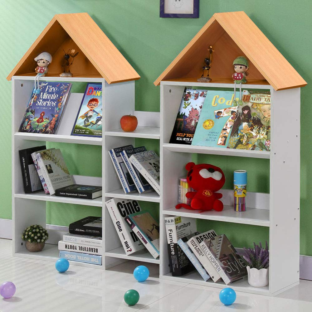 Study Room or Classroom Large Children Bookcase /& Toddlers Book Display for Playroom Tribesigns Kids/Bookshelf