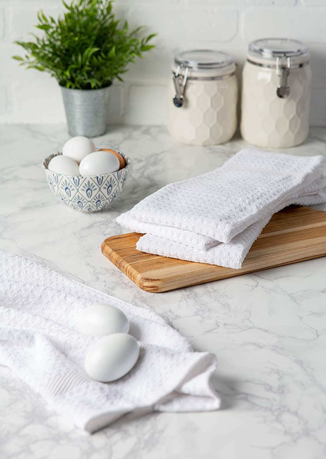 15 x 26 Set of 4 DII Cotton Waffle Terry Dish Towels Ultra Absorbent Drying /& Cleaning Kitchen Towels-White 15 x 26 Set of 4 CAMZ32695 Heavy Duty