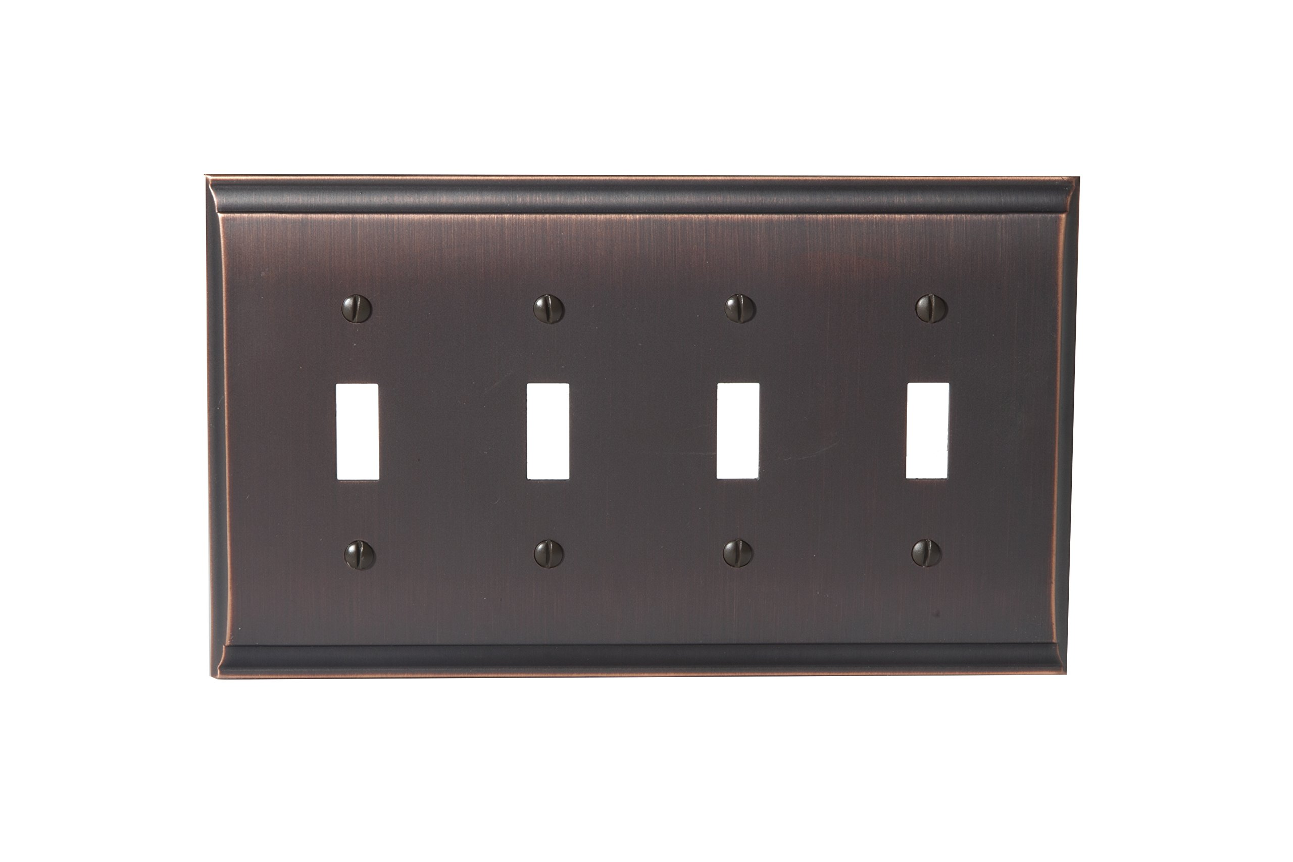 Amerock BP36503ORB Candler 4 Toggle Wall Plate - Oil-Rubbed Bronze