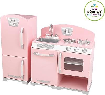 Kidkraft Retro Kitchen &Refrigerator In Pink