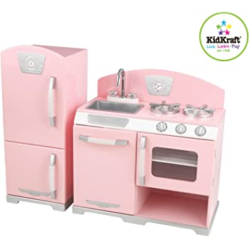 Kidkraft White Retro Kitchen And Refrigerator