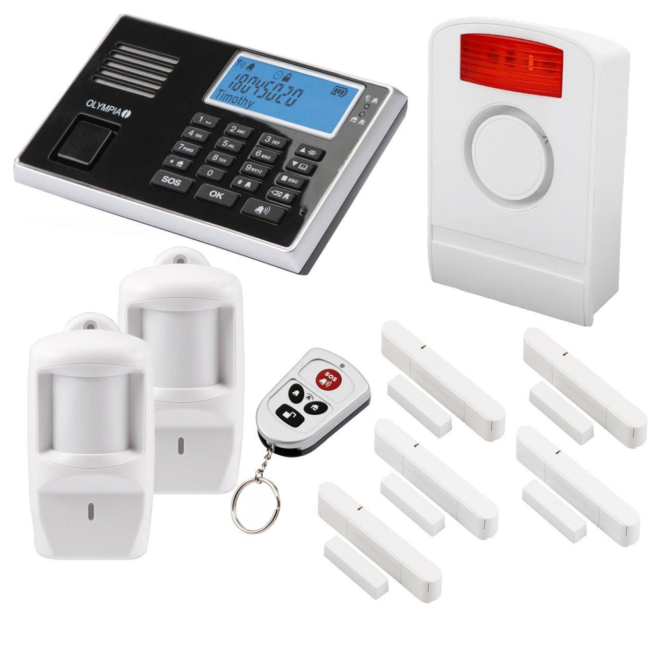 Olympia 9061 - Sistema de seguridad (1 sirena exterior, 5 sensores para ventanas y puertas, 2 sensores de movimiento): Amazon.es: Oficina y papelería