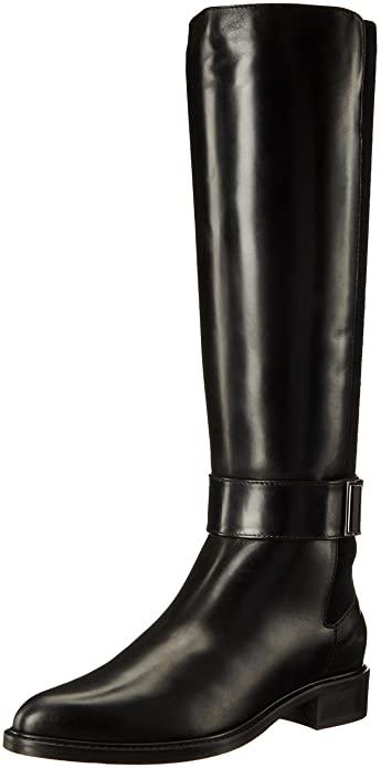 Aquatalia Women's Giada Calf Riding Boot, Black, ...