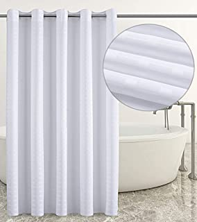 Shower Curtain Hookless Water Repellent Liner Mildew Resistant Washable PEVA Stall With Splash Clips