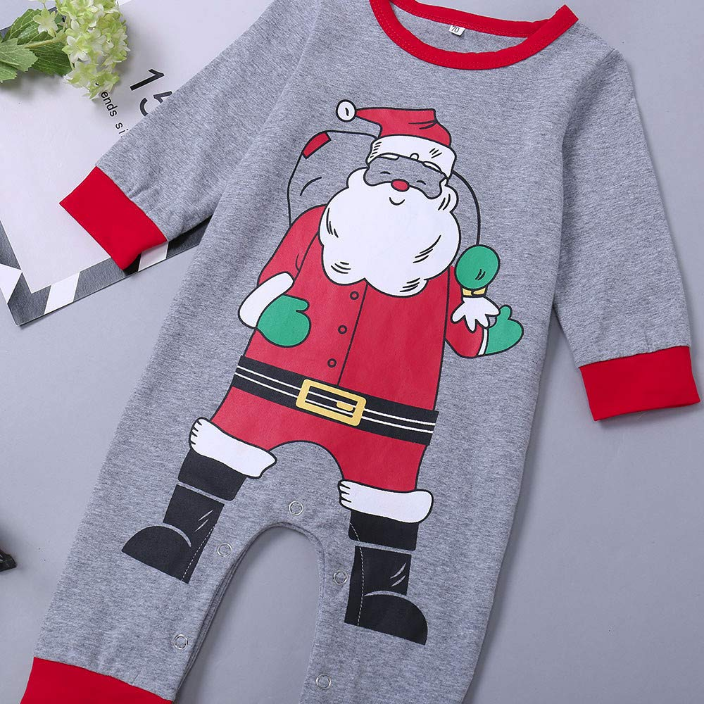 FORESTIME Cute Baby Girls Boys One Pieces Bodysuit Xmas Santa Christmas Print Romper Jumpsuit Clothes