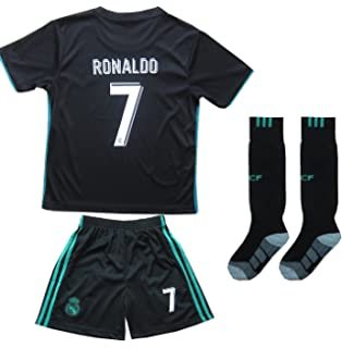d9b0f97d2 FCM 2018 2019 New  7 Cristiano Ronaldo Kids Third Soccer Jersey   Shorts  Youth