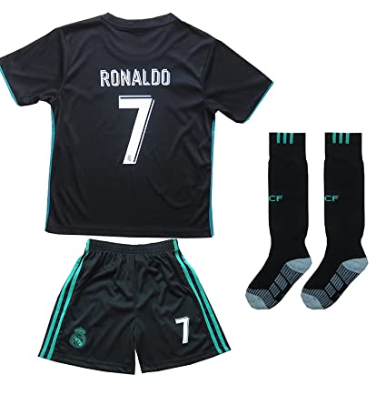ac6dccd5a FCM 2017 2018 Real Madrid  7 Ronaldo Kids Away Soccer Jersey   Shorts Youth