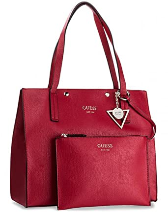 31f10d2fd3c Guess shopper bag Kinley (One Size - Red)  Amazon.co.uk  Clothing