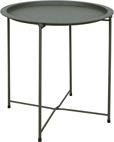 End Table Round Metal Side Table Sofa Side Snack Table Coffee Table