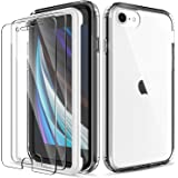 EGV Case for iPhone SE 2020 with [2 Pack] Tempered Glass Screen Protector, [Shock-Absorption] [Full Protection] Coverage Hard