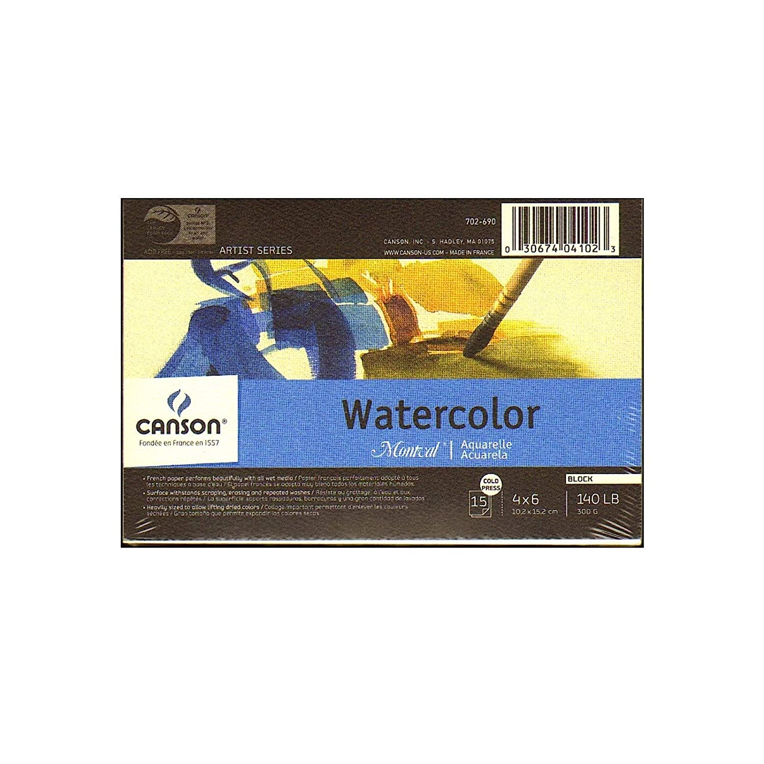 Watercolour Paper Pad 23x31cm Heritage 12 Sheets Rough Canson 300gsm