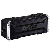 VTIN Punker Enceinte Portables Bluetooth V4.2 sans fil Étanche Haut-Parleur Bluetooth Stéréo 20W, 25 heures d'Autonomie et Kit Mains Libres Intégré avec Radiateur Passif pour iPhone 7 Plus 6S 6S Plus SE, iPad, Nexus, HTC, HuaWei, etc