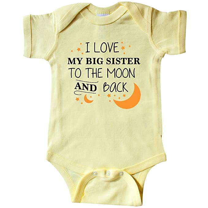 amazon com inktastic love my big sister to the moon and back infant