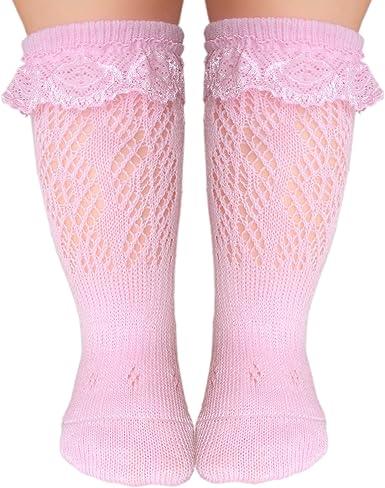 Baby boys knee high socks with flat toe seam for sensitive feet
