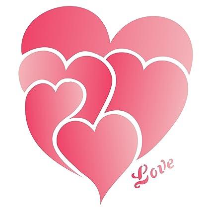 Amazon Com Valentines Day Love Heart Stencil Size 3 25 W X 4 H