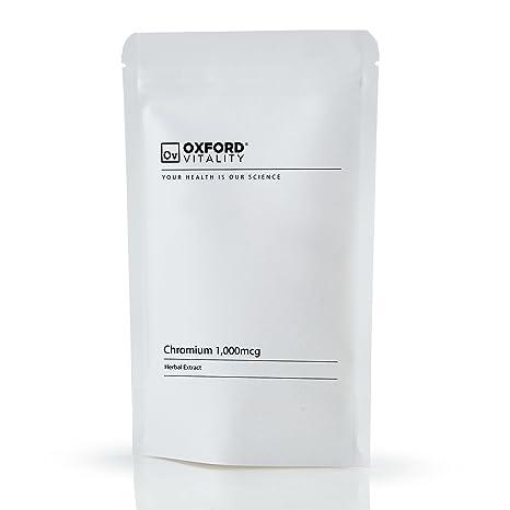 Suplementos de picolinato de cromo | Tabletas de 1,000mcg para la salud del coraz-n y la ingesta de azœcar | Oxford Vitality: Amazon.es: Salud y cuidado ...