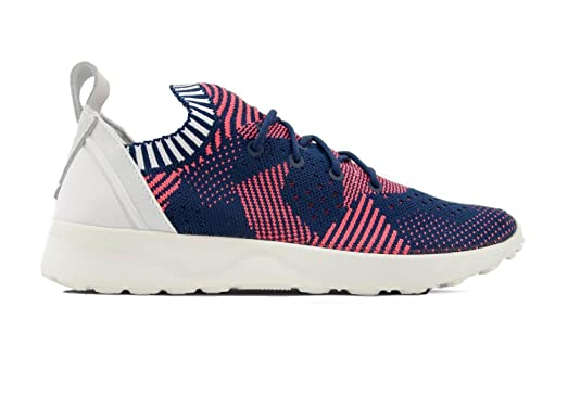 pretty nice 2191b 12bb2 ... purchase adidas women zx flux adv virtue primeknit shock red collegiate  navy 10 shock 8f271 074fb