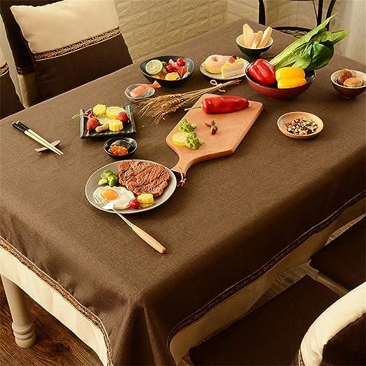 10 * 160 cm Beige marrón Patchwork juego de mesa de tela de lino y algodón