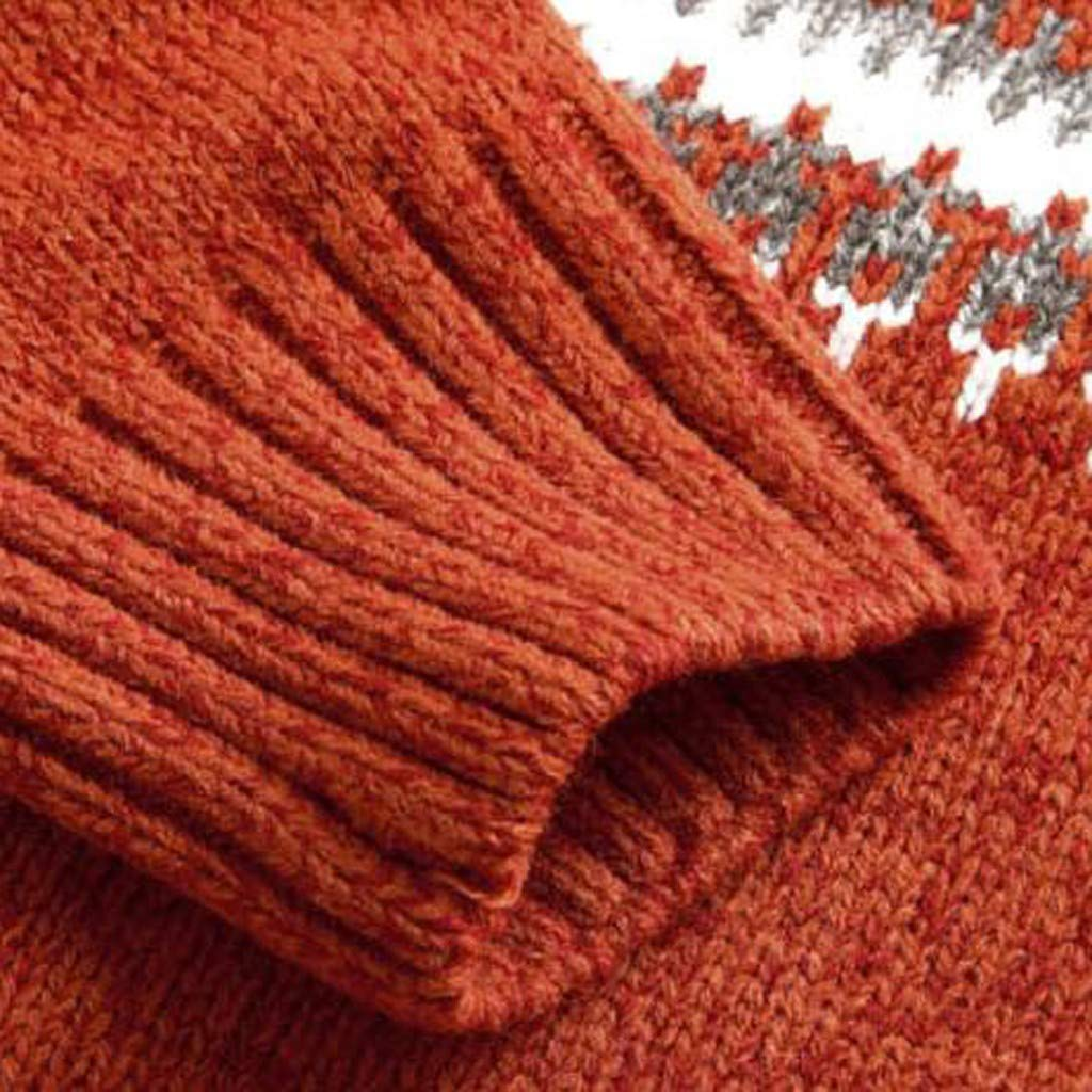 Doublelift Men Christmas Sweater Knitted Sweatshirt Reindeer Pattern Cute Ugly Pullover
