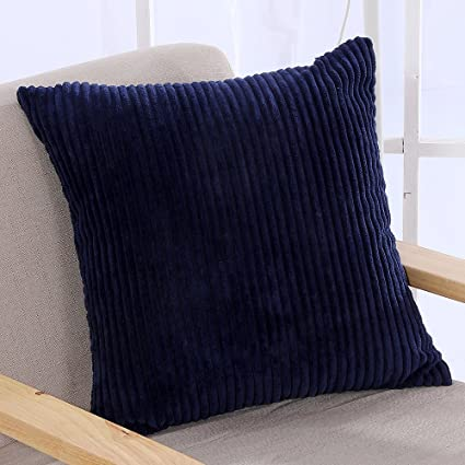 Exceptionnel Famibay Throw Pillow Cover 24x24,Striped Corduroy Cushion Cover For Sofa  Pillow Case Covers With