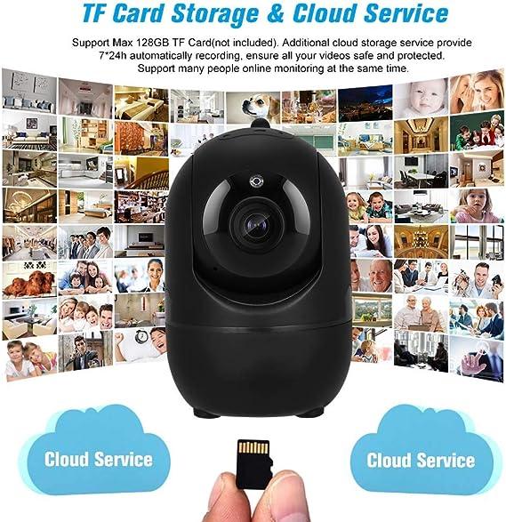 Extaum C/ámara IP 1080P inal/ámbrico con detecci/ón de Movimiento Seguimiento de Alarma de Voz P//T//Z Registro de Tarjeta TF Audio de 2 v/ías y visi/ón Nocturna para Seguridad en el hogar