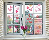 jollylife 230PCS Valentine's Day Window Clings