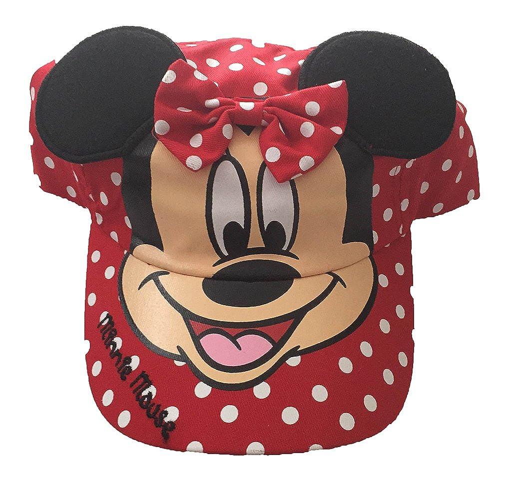 Disney Minnie Mouse Lunares niñas Gorra de béisbol con Orejas ...
