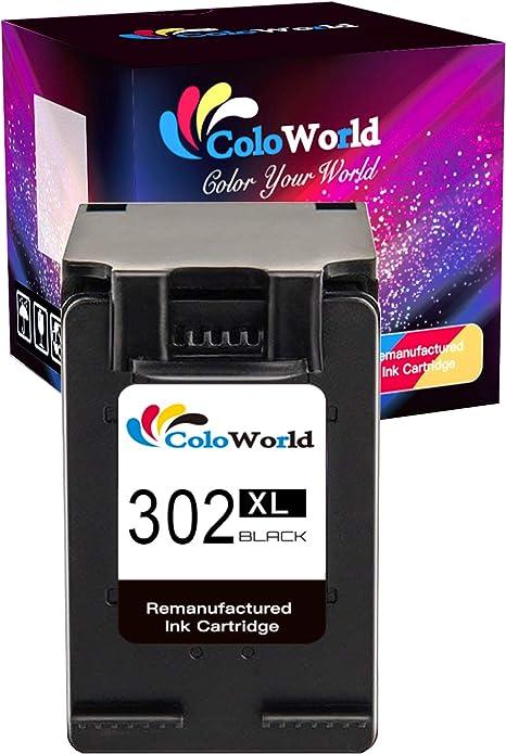 ColoWorld 302XL - Cartuchos de Tinta reciclados para HP 302 (para ...