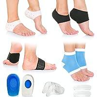 Plantar Fasciitis Foot Pain Relief 14-Piece Kit – Premium Planter Fasciitis Support, Gel Heel Spur & Therapy Wraps…