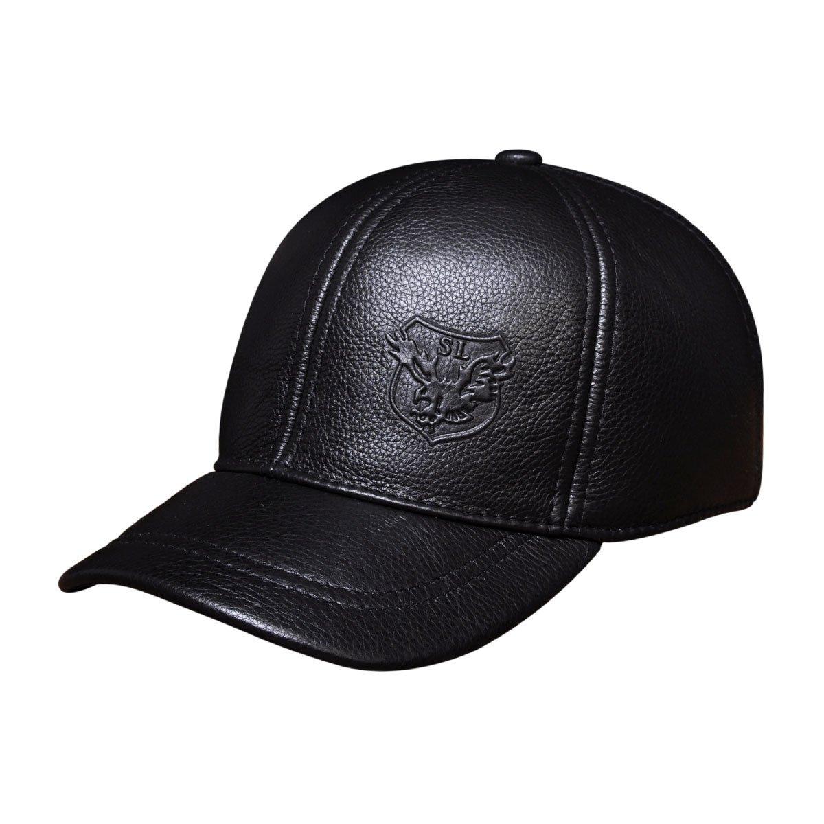 9e78ad9ab3585d Haisum Men's Baseball Cap Vintage Adjustable Suede Leather Hats with  Snapback: Amazon.co.uk: Clothing