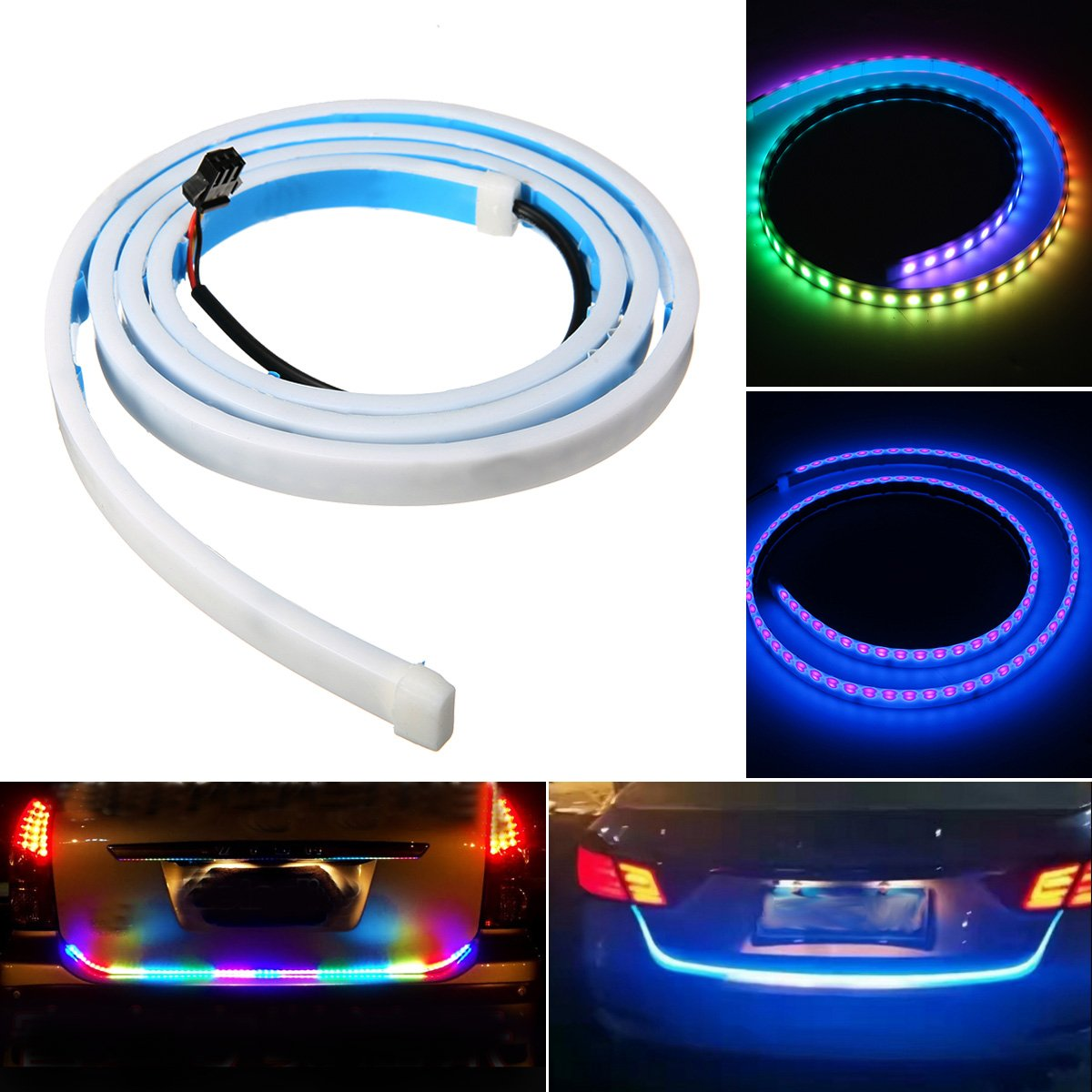 Ambother 47 Car Led Tail Tailgate Rear Lights Bar Strip Traffic Light Diagram Tuning Flexible Waterproof Multi Color Turn Sign Running Brake Caution Dc 12v