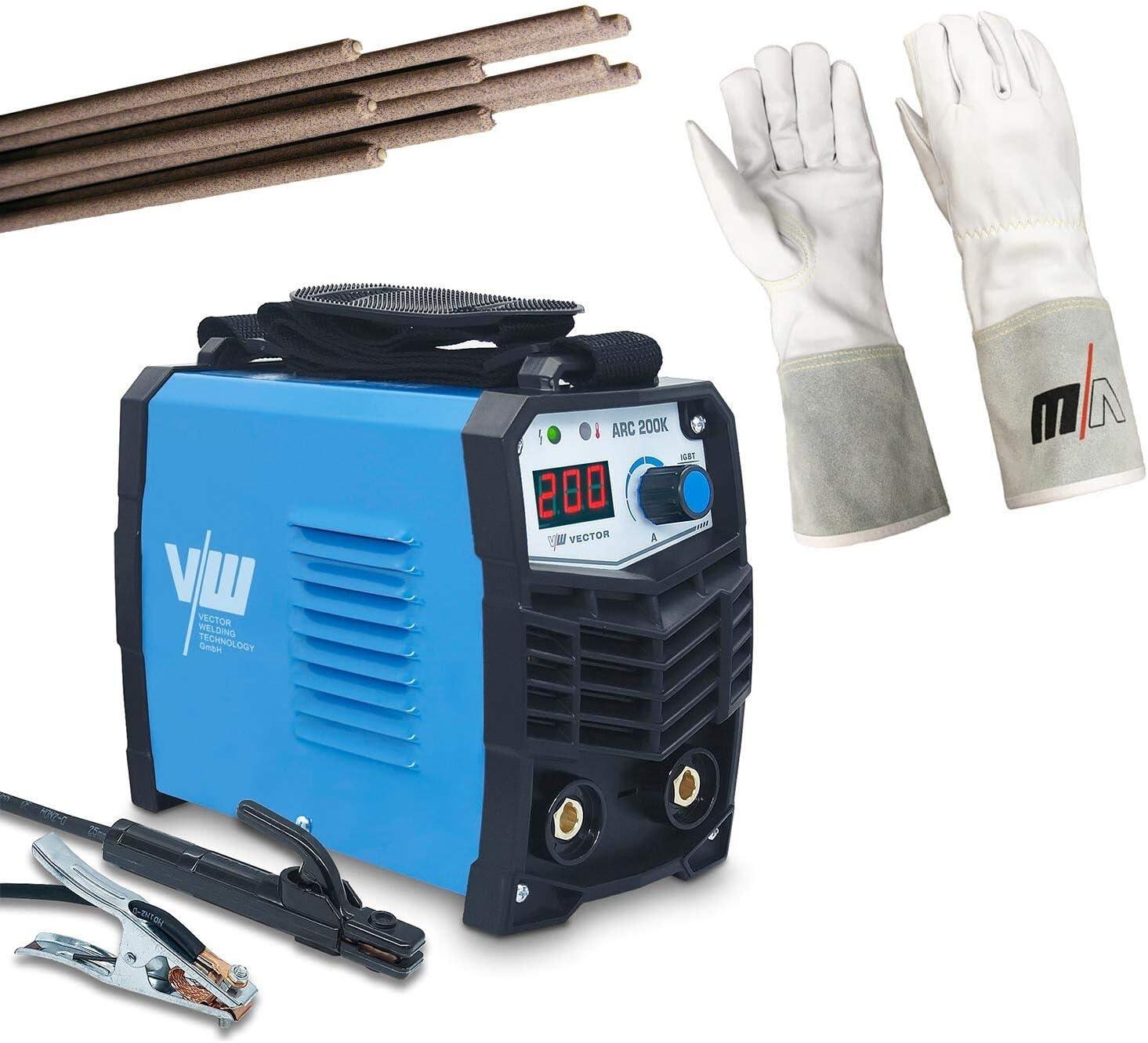 MMA ARC Vector Welding Equipo de soldadura de electrodos con inversor de 200 amperios IGBT Mini Welder para soldadura de acero inoxidable